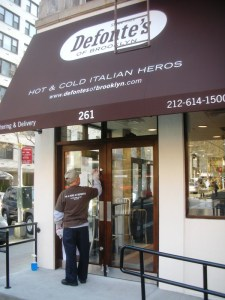 Defonte's is open and cooking.