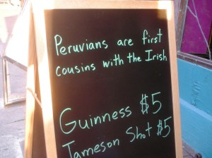 Those Irish Peruvians!