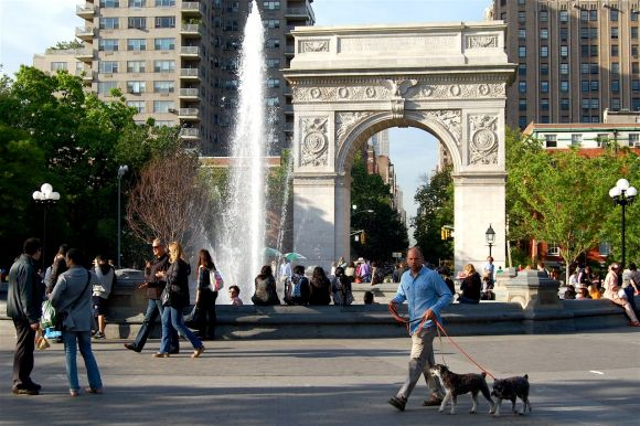 Washington Square Park Dog Walker