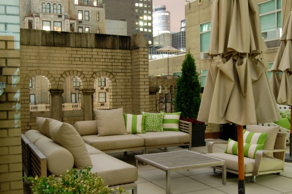 A terrace designed for loungin.