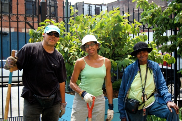 Clayton Willams Community Garden Members (Loretta on the right)
