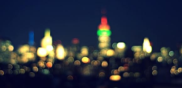 Midtown lights, new york city,